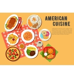 Traditional american picnic menu flat icon vector image