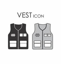Vest icon vector