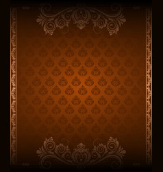 vintage border background and corner vector image