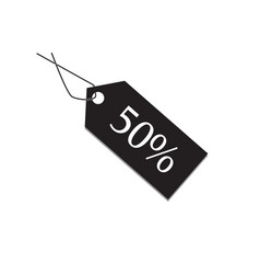50 percent tag on white background 50 percent tag vector image vector image
