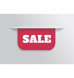 Bookmark sticker label tag with text sale vector image vector image
