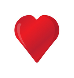 isolated heart shape vector image vector image