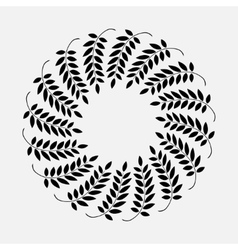 Laurel ring wreath tattoo Black ornament sign on vector image vector image