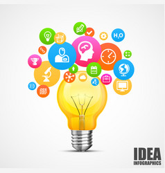 light with lots of ideas vector image vector image
