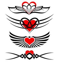 love tattoo set vector image vector image