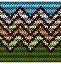 Seamless Knitted Stylized Geometric Pattern vector image vector image