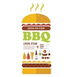 BBQ party invitation designed as a hamburger vector image