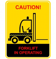 forklift sign vector image vector image