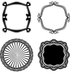Frame Set ornamental vector image