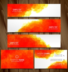 modern set of business cards and web headers vector image vector image