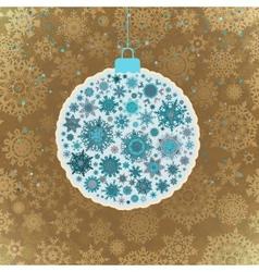 Retro template - Beautiful Christmas ball EPS 10 vector image vector image