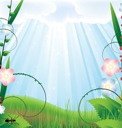 Vegetative landscape vector image