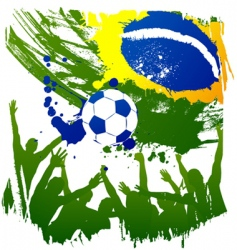 world cup brazil vector image vector image
