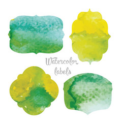 labels with watercolor casting vector image vector image