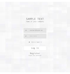 login security form sample vector image