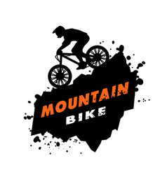 mountain bike trials emblem vector image vector image