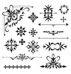 Ornamental design elements vector image