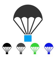 parachute flat icon vector image vector image