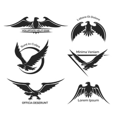 Set of eagle logo vector image vector image