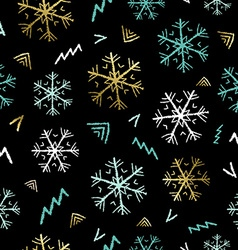 Snowflake doodle background for christmas season vector image vector image
