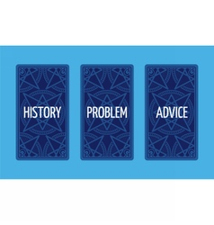 Three card tarot spread Problem solution vector image vector image