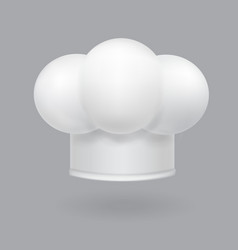 a white chef hat icon realistic vector image vector image