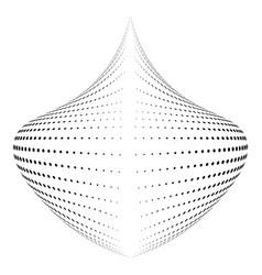 abstract halftone globe figure logo design vector image