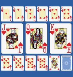 blackjack hearts suite french stylexa vector image vector image