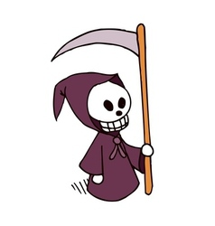 death cartoon character vector image vector image