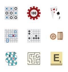 flat icon play set of sea fight xo gomoku and vector image vector image