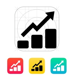 Graph up icon vector image