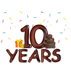 10 years anniversary celebration birthday vector image