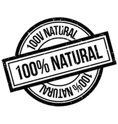 100 percent natural rubber stamp vector image