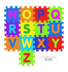 Alphabet puzzle vector image