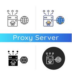 anonymous proxy icon vector image
