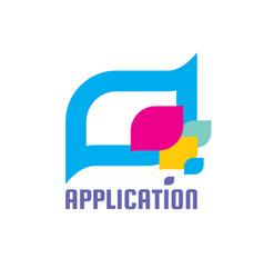 Application message - speech bubbles logo vector
