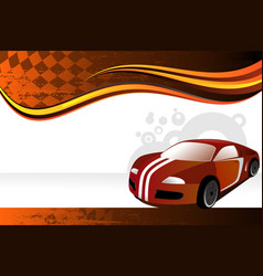 Automobile banner vector