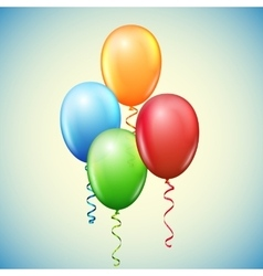Balloon and ribbons vector