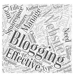 Blogging websites word cloud concept vector