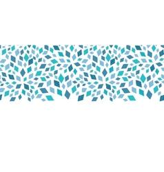 Blue mosaic texture horizontal border vector