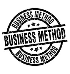 Business method round grunge black stamp vector