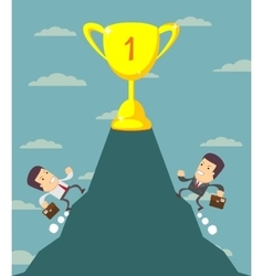 Businessman is runing to get the prize vector