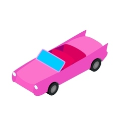 Car convertible icon isometric 3d style vector