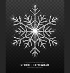 christmas decoration silver snowflake vector image