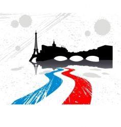 city of Paris vector image