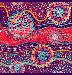 colorful decorative pattern ethnic background vector image