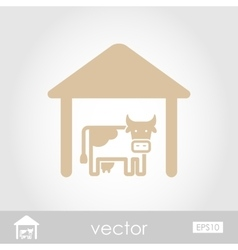 Cowshed icon vector