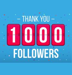 Creative of 1000 followers vector