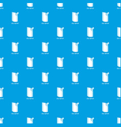 Doy pack pattern seamless blue vector