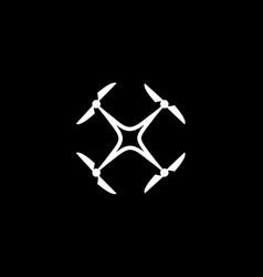 Drone logo concept design arial logo vector